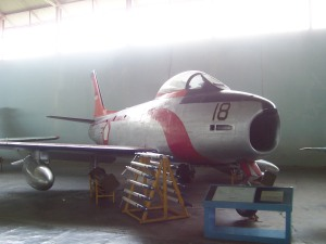F-86 Sabre di Museum Dirgantara Mandala - Yogyakarta