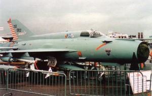 MIG-21 2000 produksi Isreal, vesi MIG-21 paling canggih saat ini. Tampak moncong di air intake dipangkas