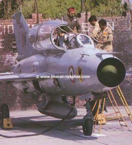 MIG-21 versi Latih dengan dua kursi, milik AU India