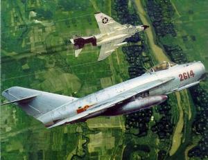 Dogfight antara F-4 Phantom dan MIG-17 Fresco di perang Vietnam