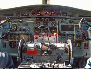 Visual kokpit Fokker F-27
