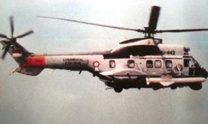 Super Puma TNI-AL pernah dipasangi dummy AM-39 Exocet