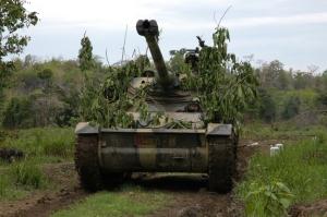 AMX-13 Kavaleri Kostrad dalam kamuflase dedaunan