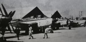 Gannet TNI-AL di sebuah apron bandara