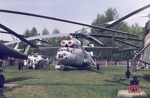 Mi-6 di sebuah museum dirgantara Rusia