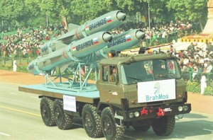Brahmos/Yakhont dalam sebuah parade militer di India