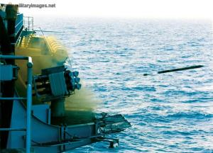 Sistem peluncur Sadral pada fregat AL Perancis