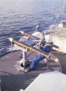 Sistem peluncur Simbad yang dioperasikan manual