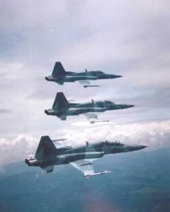 Manuver 3 F-5E Tiger TNI-AU