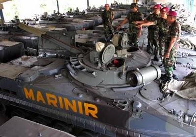 BMP-3F Korps Marinir TNI-AL. Jadi IFV dengan daya gempur terkuat milik TNI saat ini.