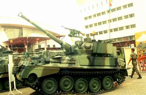 Cockerill 90 pada tank Scorpion TNI-AD