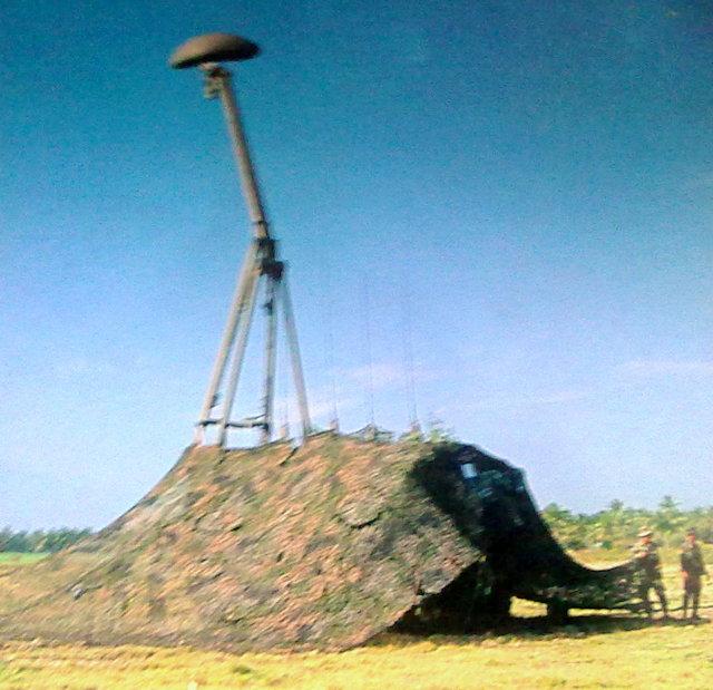 Radar Giraffe TNI AD dalam gelar latgab, saat operasi tempur Giraffe