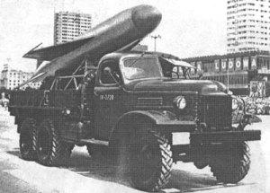 SSC-2b Samlet yang ditempatkan pada truk ZIL