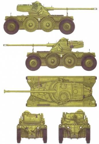 Panhard EBR FL-10 kaliber 75 mm, menggunakan kubah yang serupa dengan tank AMX-13