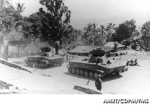 PT-76 Korps Marinir dalam operasi Seroja 1975