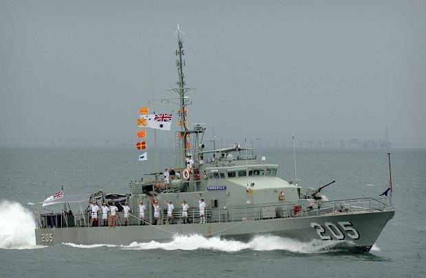 """Inilah kapal patroli generasi kedua milik RAN, kelas Fremantle, beberapa kapal ini sempat ikut dalam parade """"Arung Samudera 1995"""" di Teluk Jakarta"""