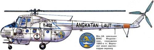 Mi-4 Penerbal TNI AL dengan kelengkapan SMB 12,7 mm pada bagian bawah body