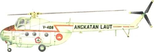 Mi-4 miliki Penerbal TNI AL dalam versi transport sedang