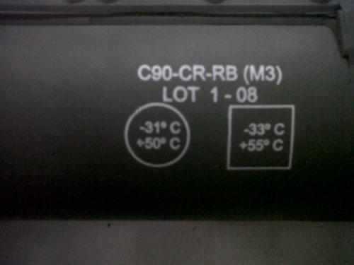 Pada tabung peluncur juga dilengkapi informasi untuk suhu untuk pemakaian terbaik