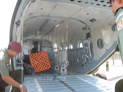 Ruang kargo dan ramp door Mi-17 TNI AD
