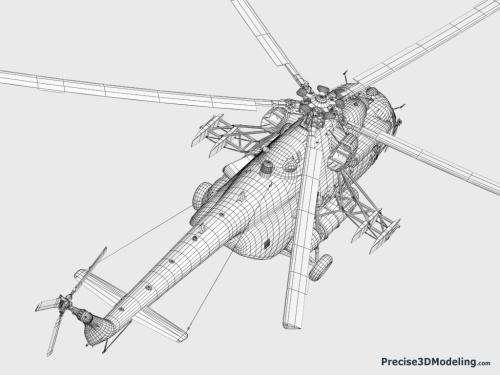 Desain Mi-17-V5 tampak dari sisi atas