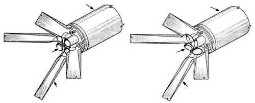 Fin (sirip) roket yang akan mengembang saat roket melesat