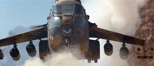 SA-330 saat tampil sebagai Mi-24 di film Rambo III,