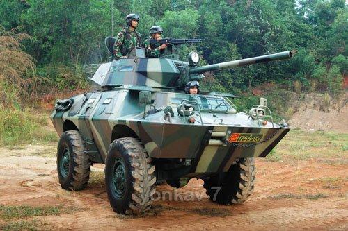 V-150 versi kanon juga menempatkan M-60 pada sisi kubah