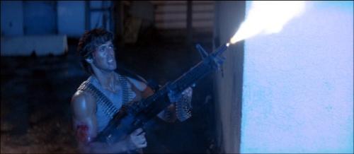 "Sekuel pertama Rambo ""First Blood,"" menjadikan popularitas M-60 meroket dipasaran."