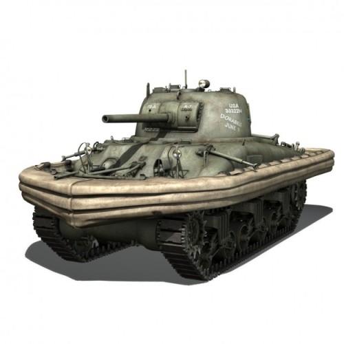 Tank Sherman versi Duplex Drive, memberi kemampuan tank tambun ini untuk berenang.