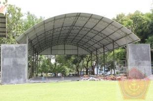 Shelter F-5 yang tengah dipersiapkan di museum Dirgantara Yogyakarta