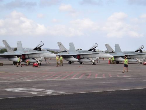 Armada F/A-18 Hornet RAAF dalam Elang Ausindo