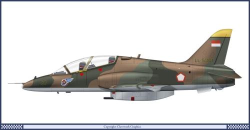 Pesawat lawas, Hawk MK.53 skadron 15 TNI AU juga bisa dipasangkan ADEN 30mm