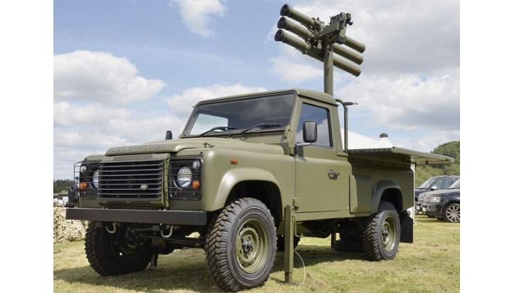 Starstreak dengan platform pengusung jeep Land Rover, yang bakal diakuisisi Indonesia.