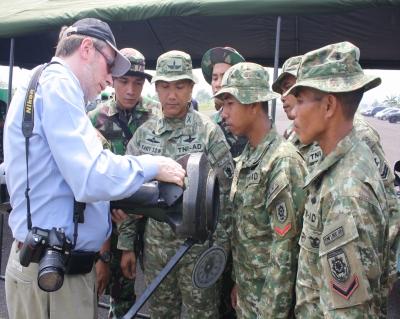 NLAW saat uji terima di Indonesia