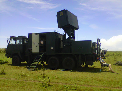 Radar SR-74 dalam platform truk SX 2153B 6x6