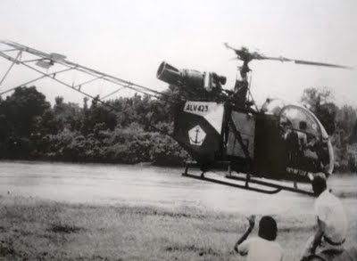 Alouette II milik Penerbal TNI AL, Penerbad TNI AD pun juga punya jenis heli ini.