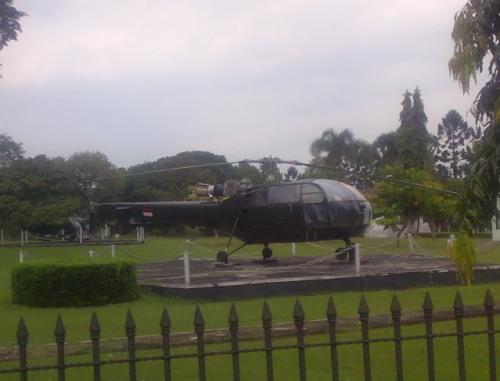 Alouette III di halaman Akademi Militer, Magelang.