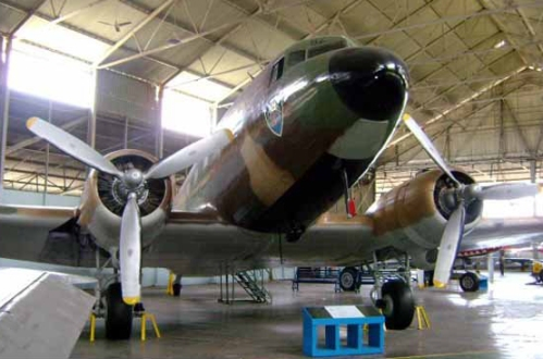 Salah satu C-47 milik TNI AU yang menjadi etalase Museum Dirgantara, Yogyakarta