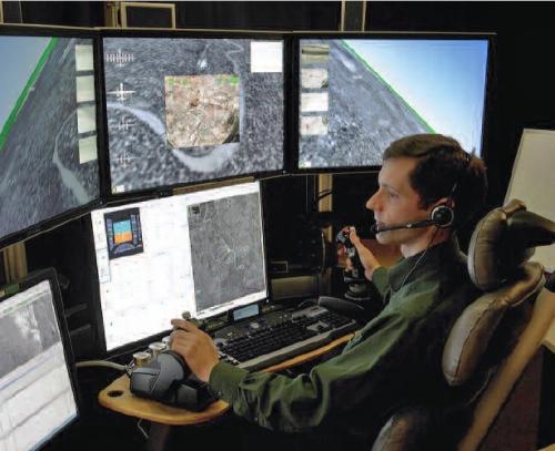 Beginilah suasana di ruang operator GSC UAV milik AS