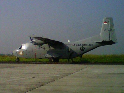 Inilah NC-212 200 versi angkut standar Skadron Udara 600 Penerbal TNI AL.