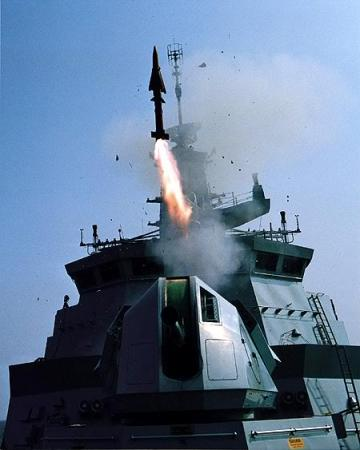 Rudal Sea Wolf meluncur dari Leiku Class