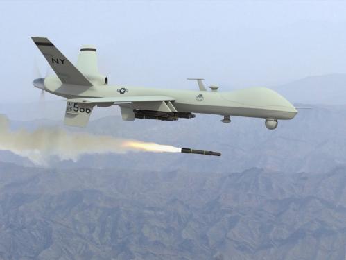 Predator, salah UCAV tercanggih milik AS, mampu melepaskan rudal seperti Hellfire. Kelak kemampuan seperti ini yang ingin juga dimiliki Indonesia.