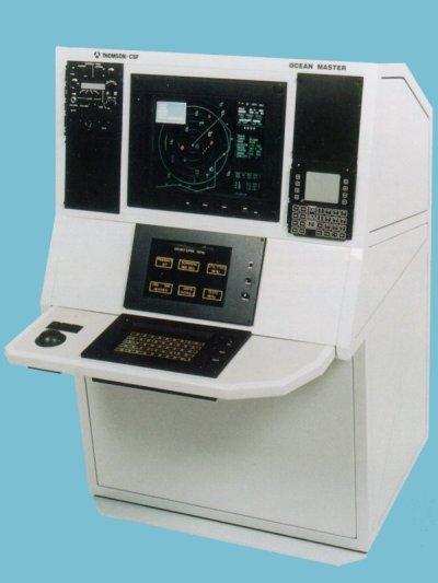 Tampilan meja monitor dan display untuk Ocean Master radar