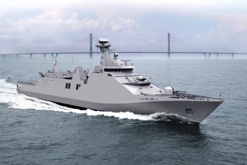 (Perusak Kawal Rudal)/frigat SIGMA 10514 TNI AL yang akan dibekali Mica VLS