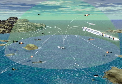 Simulasi tempur Mica Naval