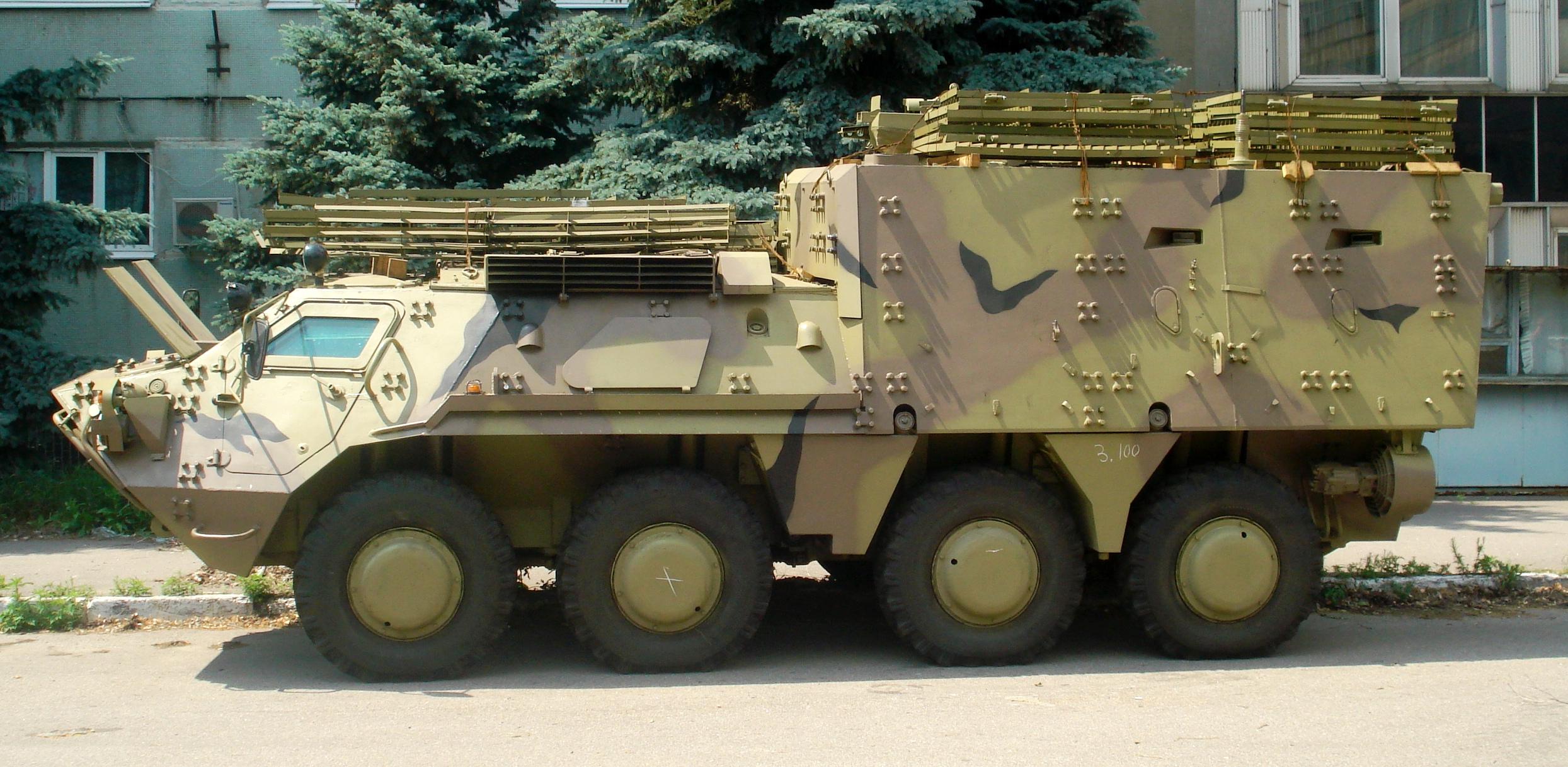 Salah satu BTR-4 milik Irak.