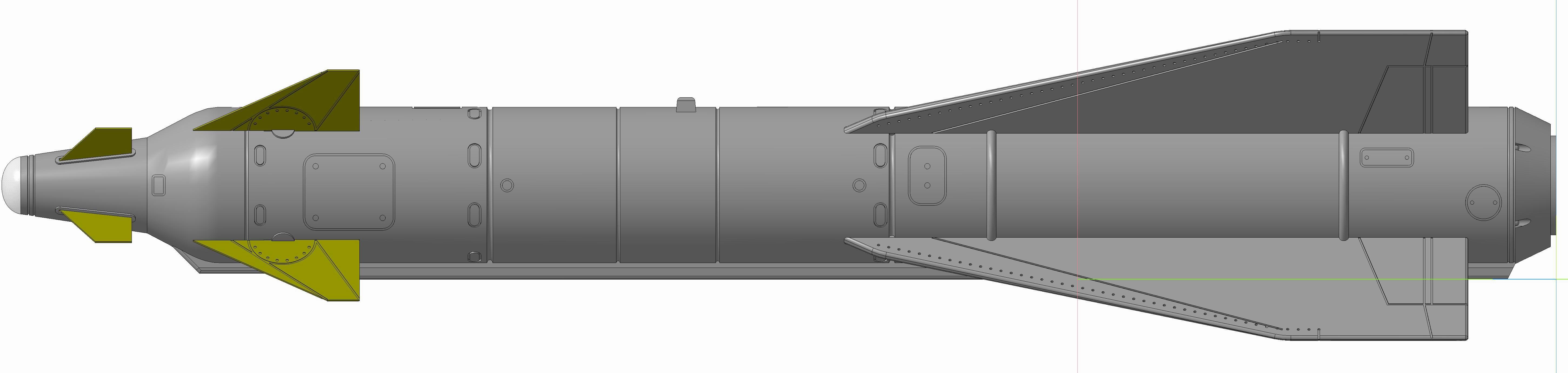 Kh-29L, varian dengan pemandu semi active laser.