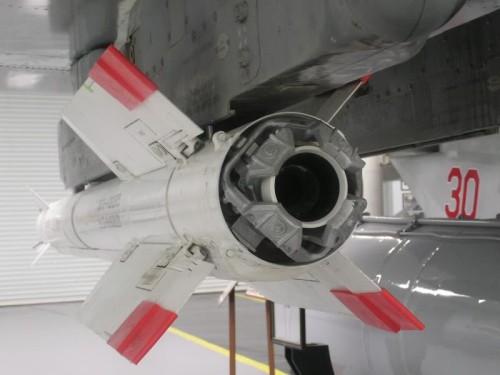 Bagian belakang rudal R-73.