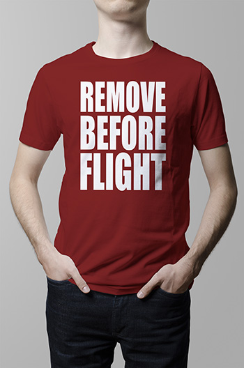 Sale] Key Chain Locking Pin and Shirt– Remove Before Flight